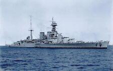 ROYAL NAVY BATTLECRUISER HMS HOOD ENTERING SYDNEY IN MARCH 1924