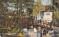 NAPANOCH NY~RUSTIC BRIDGE-SEAMANS PARK POSTCARD 1910 PMK