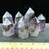 2.2LB Natural amethyst quartz obelisk crystal wand point healing random