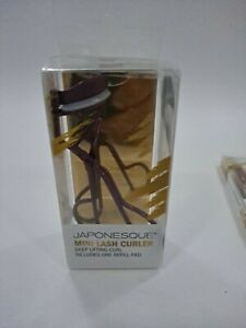 Japonesque Mini Eye Lash Curler With One Refill Pad Pink Rose Gold