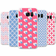 Blue & Red Heart & Diamond Patterns Hard Case Phone Cover for Samsung Phones