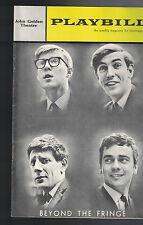 Beyond Die Fransen Playbill Kann 27 1963 Dudley Moore Peter Cook Alan Bennett
