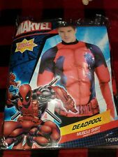 Deadpool Adult Muscle Shirt Costume Standard size Nwt