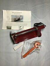 Kitchen Masters Stainless Steel Vegetable Slicer/Garnish Tool NEW Red