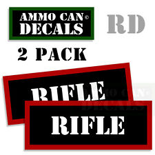 RIFLE Ammo Decal Sticker bullet ARMY Gun safety Can Box Hunting Labels 2 pack RD