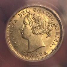 1901 Canada  10c silver Dime   , AU55 , ANACS