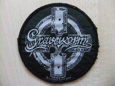 Aufnäher - Patch - Graveworm - Logo Cross - Cradle Of Filth - Crematory - Samael
