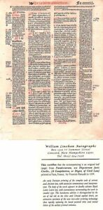 A Page from the 1539 Pandectarum, Seu Digestorum Juris Civilis - Paris