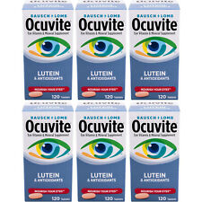 6 Pack Bausch & Lomb Ocuvite Eye Vitamin & Mineral Supplement with Lutein 120 Ea