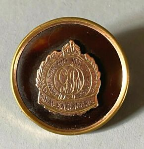 ANTIQUE WWI GOLD FRONT MILITARY SWEETHEART BROOCH PIN ROYAL ENGINEERS