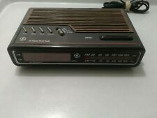 Vintage GE 7-4612B AM/FM Alarm Clock Radio Digital LED General Electric-tested