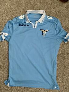 S.S. Lazio Macron Football Shirt Soccer Jersey Blue Men Size XL US L