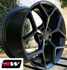 "20"" inch Chevy Camaro Z28 Wheels Matte Black Rims 20x9"" 5x120 +30 offset 2010-18"