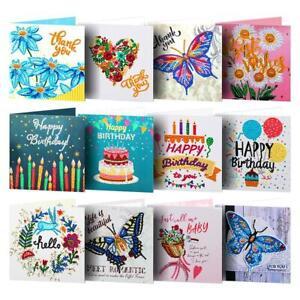 5D DIY Diamond Painting Greeting Cards Thanksgiving Birthday Xmas Party Gift #s