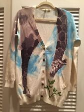 Moth Tiga Cardigan Sweater Giraffe Anthropologie S/P S Small Oversized $118