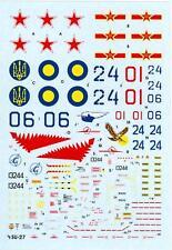 """Hi Decals 1/72 SUKHOI Su-27 """"FLANKER B"""" Soviet Jet Fighter"""