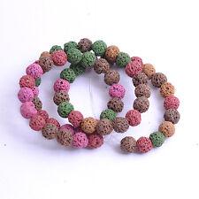 Lava Rock Stone Round Jewelry Making Gemstone U Pick  Colour  16'' 6MM 8MM 10MM
