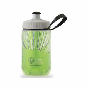 Polar 12 oz Kids Sport Insulated Fireworks Bike Water Bottle Cyber Lime