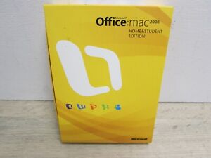 Microsoft Office Mac 2008 UK Home and Student Boxed Edition Untested