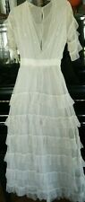 Antique Victorian Wedding Dress Gown net lace  Display or Design Inspiration