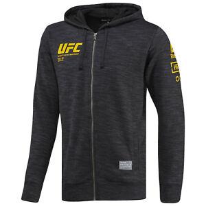 Reebok Official UFC Men Combat Ultimate Fan Black Full Zip Hoodie NEW M, L, X-L,