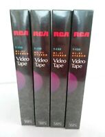 RCA T-120 Hi-Fi Blank VHS 6 Hour Video Tapes Lot of 4 New Sealed Free Shipping