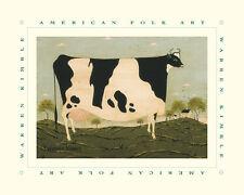 American Cow Art Poster Print by Warren Kimble, 10x8