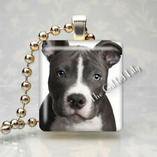Pit Bull American Staffordshire Terrier Dog Breed Scrabble Tile Pendant Jewelry