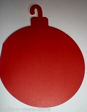 Red Christmas Bulb Ornament Shaped Note Cards w/ Envelopes - Set of 8