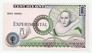 United Kingdom Bank of England Test Note IBNS 1993