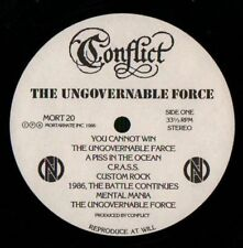 Conflict(Vinyl LP)The Ungovernable Force-Mortarhate-MORT20-UK-1986-VG/Ex