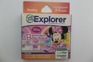 LeapFrog Explorer Disney Minnie Mouse Bow-tique Reading Learning Game Ages 3-5