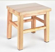 Children Wooden Stool Chair Hard Timber Wood Strong And Solid Rectangle Shape AU