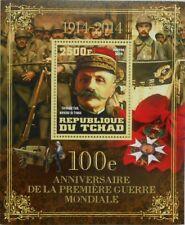WWI Great World War I Marshal F. Foch (France) Tchad Chad s/s #tchad2014-181