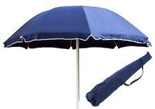 Ombrellone Spiaggia in COTONE tinta unita Mare Lido LIPARI Blu 200 cm