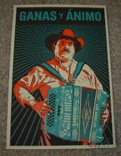 ERNESTO YERENA Print GANAS Y ANIMO Handbill poster shepard fairey