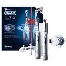 2 x Braun Oral-B GENIUS 8900 Electric Rechargeable Power Toothbrush Bundle UK