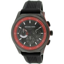 Michael Kors Men's Chronograph Outrigger Black Silicone Strap Watch 43mm MK8376