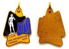 Medaglia Con Smalti C.U.S.I. Firenze 1953 Centro Universitario Sportivo Italiano