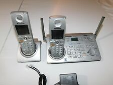 Panasonic KX-TG5777 Cordless Phone w Extra Base & Handset Answering System Works