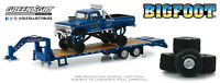 A.S.S NEU GreenLight 1/64 Big Foot Ford F-250 Monster Truck Trailer Exclusive
