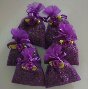 LAVENDER IN ORGANZA BAGS. SIX BAG SET OF HIGH QUALITY LAVENDER FROM TASMANIA