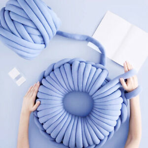Super Thick Soft Chunky Wool Gaint Yarn DIY Bulky Arm Knitting Roving Crocheting