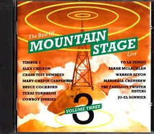 The Best Of MOUNTAIN STAGE Vol.3 CD LIVE Alex Chilton/Bruce Cockburn/Timbuk