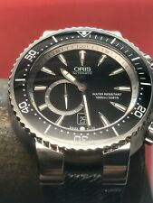 Oris Titan C Small Seconds Date 47mm Titanium Case 1000m Diver Swiss Automatic