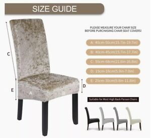 x4 Velvet Extra Large Dining Chair Cover Spandex Wedding Banquet Chair Slipcover