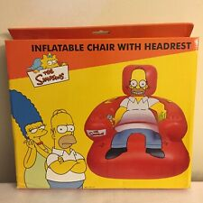 The SIMPSONS INFLATABLE CHAIR WITH HEADREST & DRINKS HOLDER NEW IN BOX