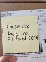 American Eagle 2020 One Ounce Gold Uncirculated Coin (20EH) - SEALED ON HAND