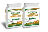 Turmeric Curcumin Bioperine Pure Organic Black Pepper 180 Capsules Antioxidant
