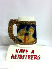 Heidelberg beer sign stein mug bar chalkware statue chalk display Columbia CN4